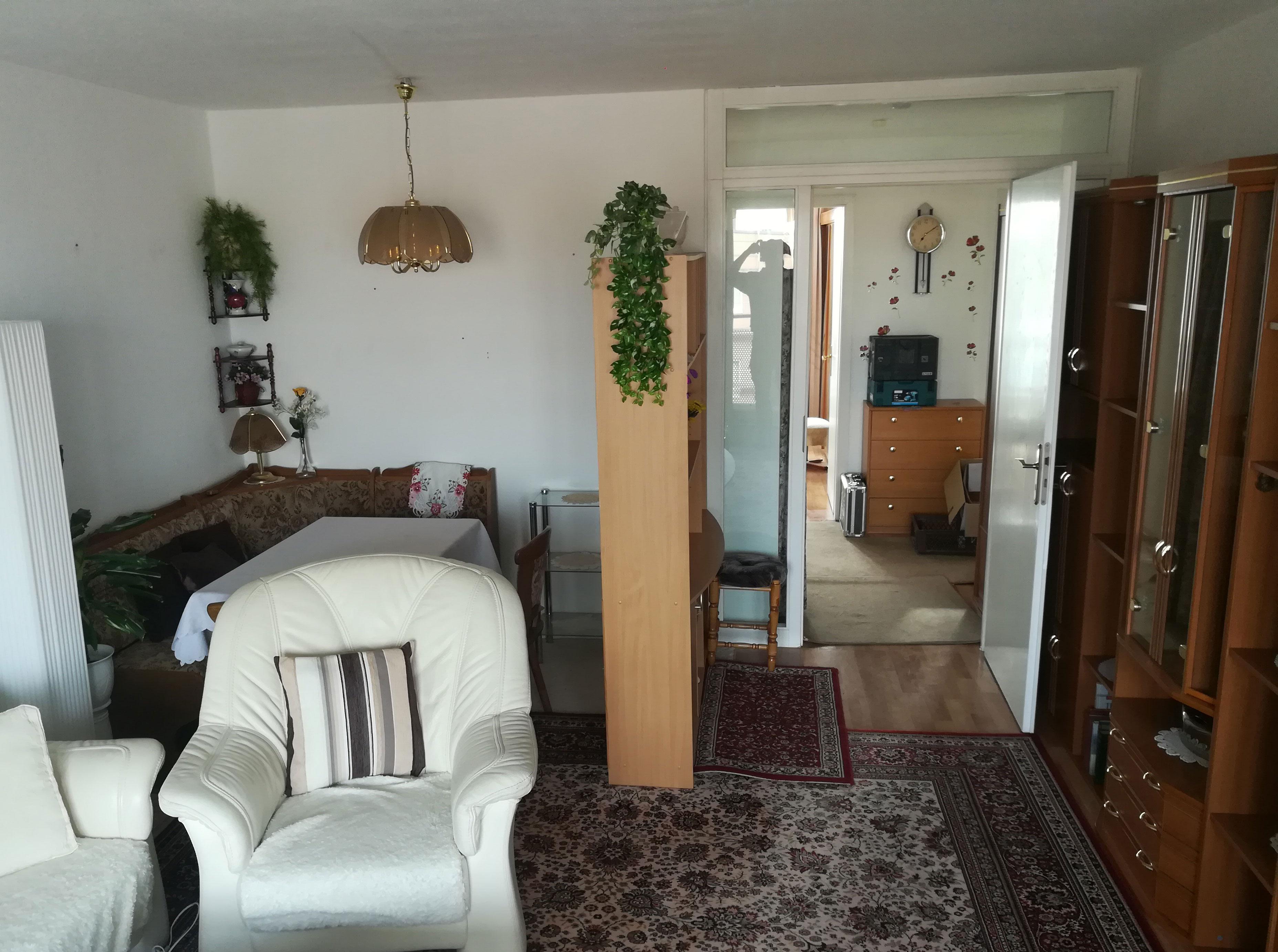 Wohnzimmer vorher Haushaltsauflösung Rostock