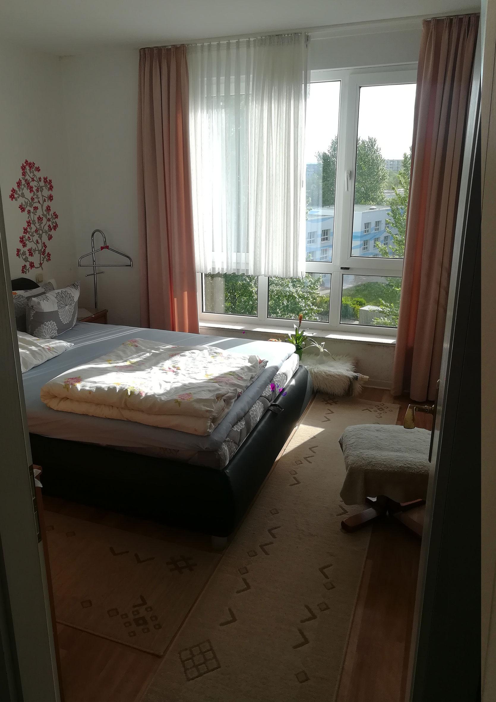 Schlafzimmer vorher Haushaltsauflösung Rostock