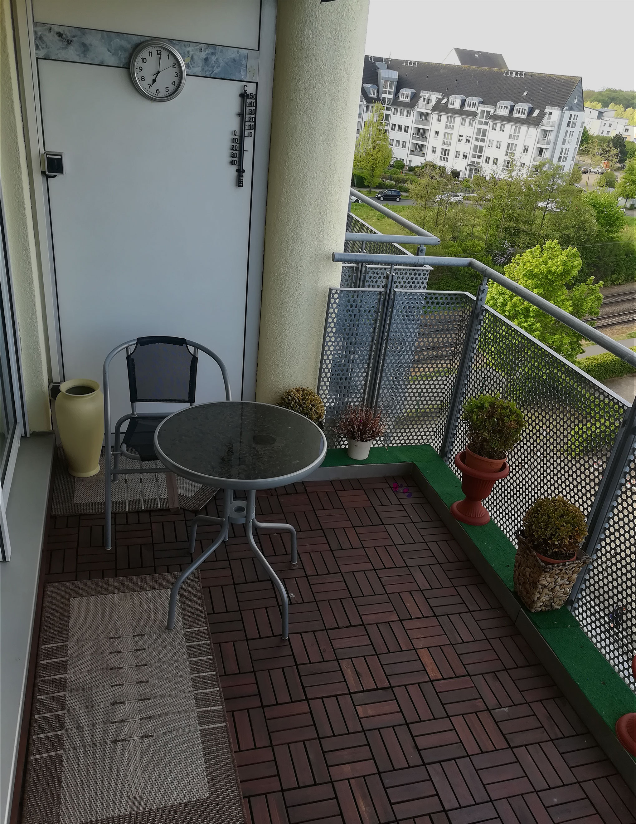 Balkon vorher Haushaltsauflösung Rostock
