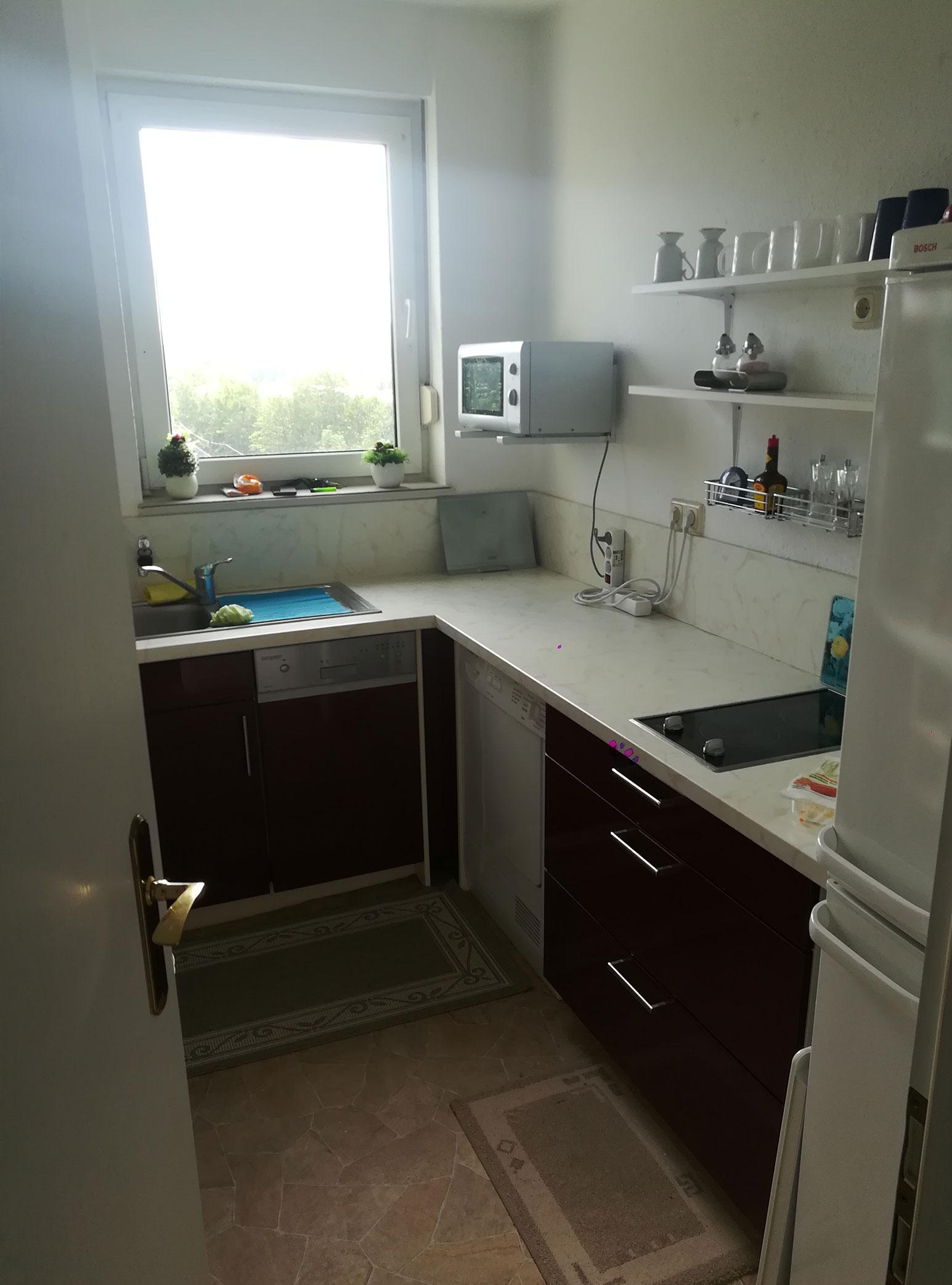 Küche vorher Haushaltsauflösung Rostock
